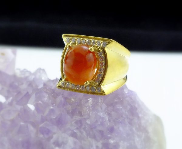 انگشتر طلای زنانه جواهری