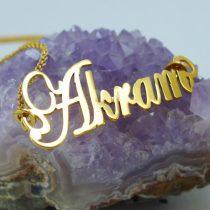 گردنبند طلا اسم Akram (اکرم) طرح برشی
