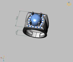 طراحی سه بعدی انگشتر طلا با استفاده از نرم افزار ماتریکس