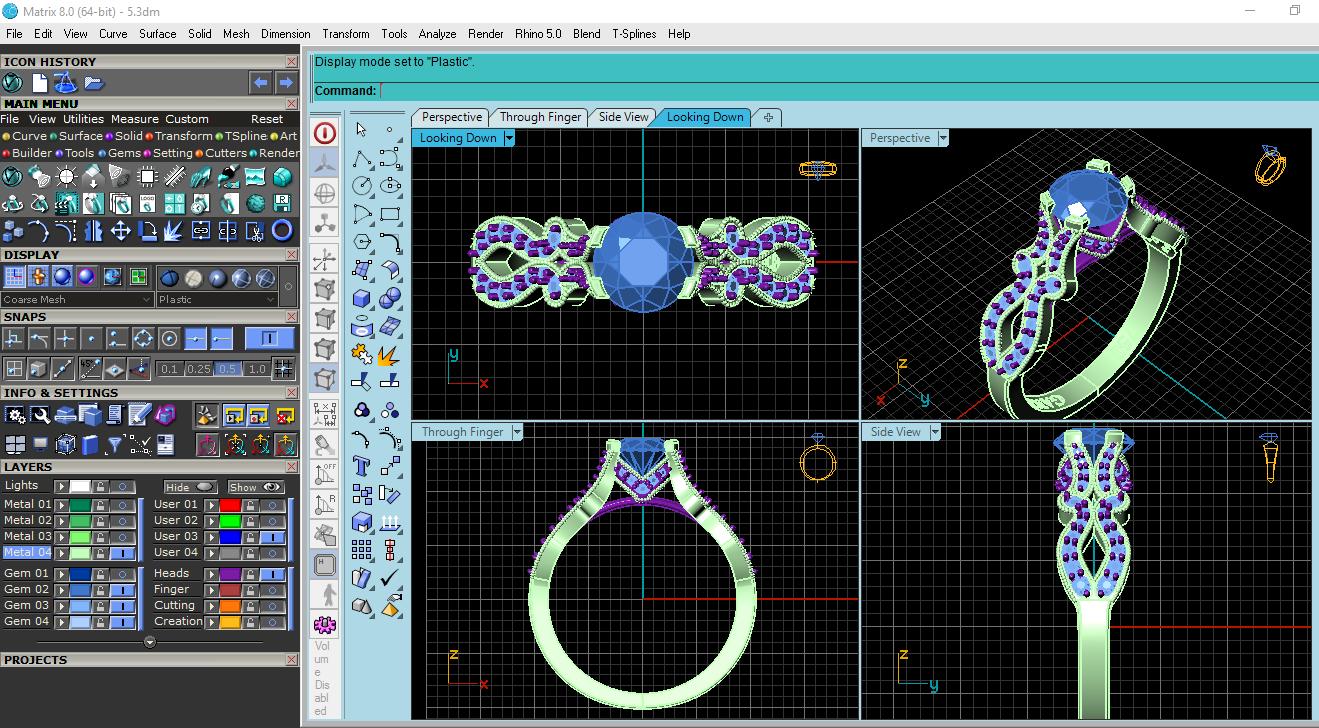 طراحی نرم افزاری (سه بعدی) انگشتر