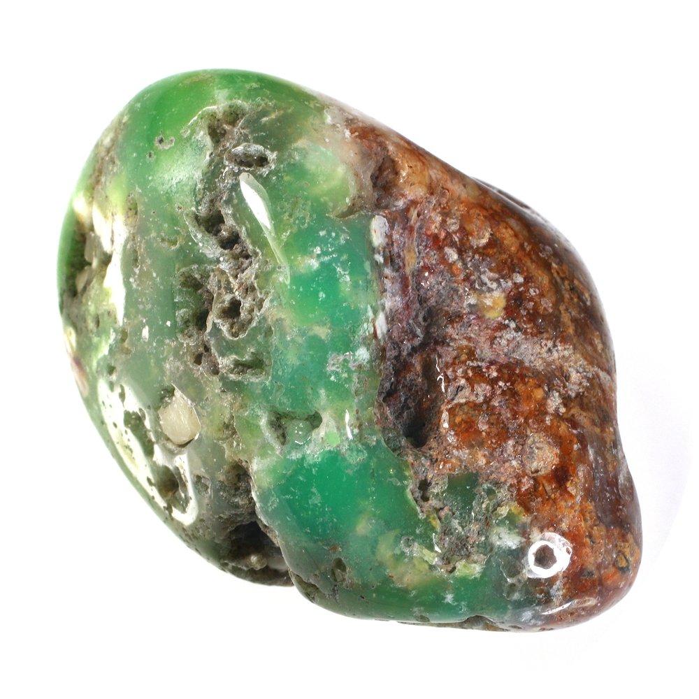 نمونه ای از سنگ راف عقیق سبز