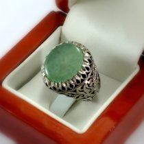 انگشتر دست ساز مردانه عقیق سبز