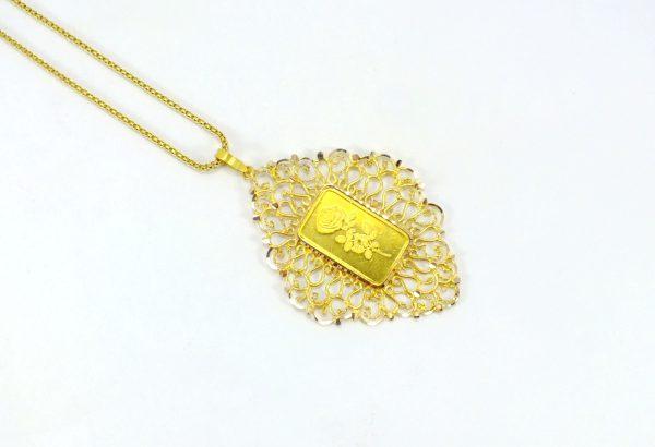 گردنبند طلا طرح ملیله