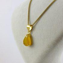 گردنبند طلای زنانه عقیق زرد شرف الشمس اشکی