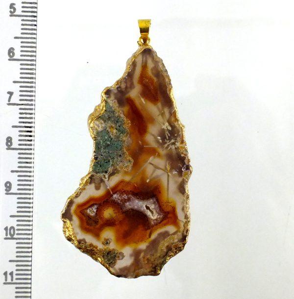 گردنبند اسلایس سنگ راف عقیق سلیمانی روتایلی کد N526