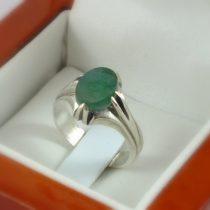 انگشتر نقره مردانه عقیق سبز طرح چهارچنگی