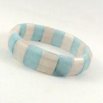 دستبند سنگ آکوامارین و رزکوارتز سنگ درمانی کد N525
